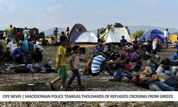 Macedonian Police Teargas Thousands of Refugees Crossing From Greece